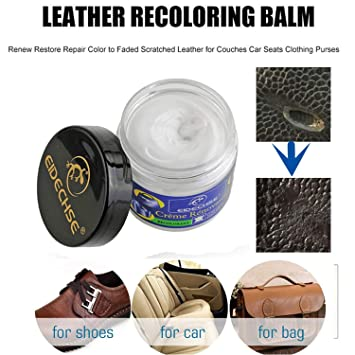 uhmhome Leather Color Repair Cream Coloring Restorer Paste with Sponge  Applicator Repair Faded Scratched Leather Recoloring for Car Seats Sofas  Purse ...