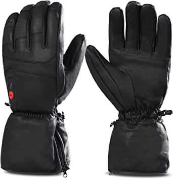 Heated Gloves for Men Women, Electric Heated Gloves, Heated Ski Gloves
