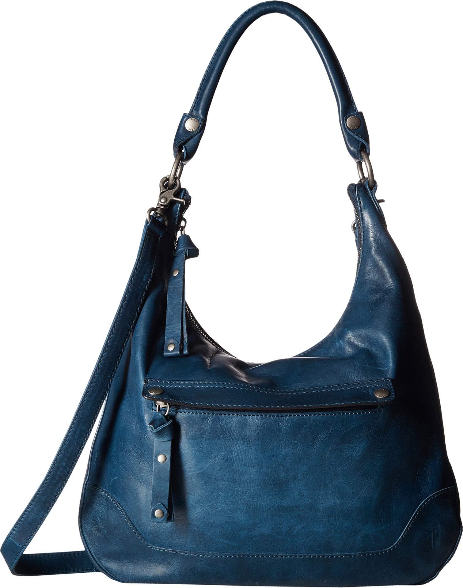 FRYE Melissa Zip Leather Hobo Handbag, peacock