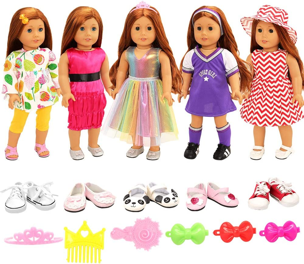 """For American Girl 18"""" Inch Dolls Clothes Dress Holiday Outifts Accesssories Set"""