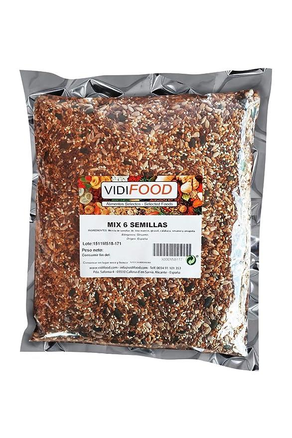 Mezcla de Semillas - 1kg - Deliciosa semilla de lino, semillas de girasol, semillas de sésamo, semillas de calabaza y mezcla de semillas de amapola - ...