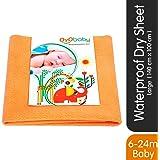 OYO BABY Waterproof Bed Protector Dry Sheet - Large (Peach)