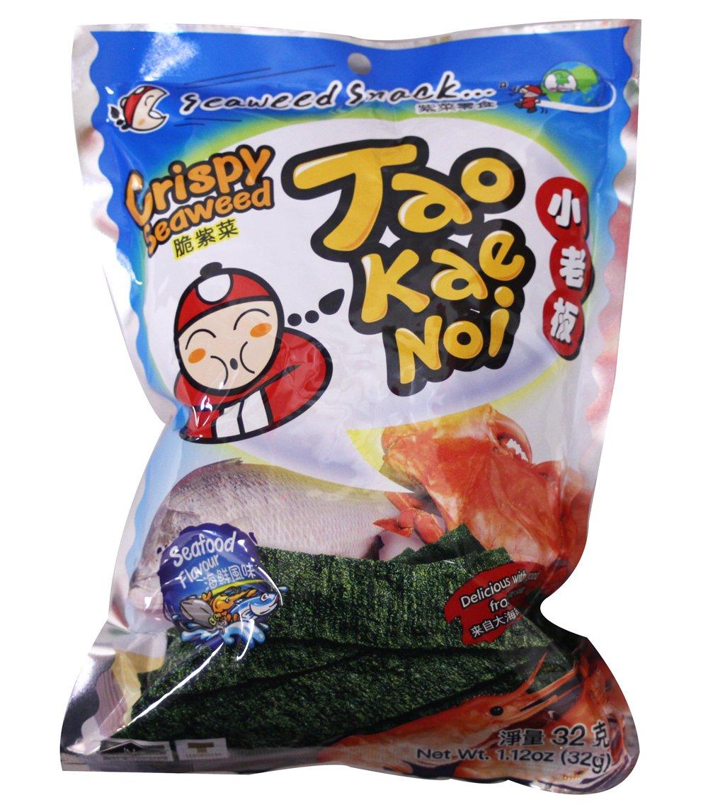 Tao Kae Noi Hi Crispy Seaweed Seafood Flavor, 1.12oz x 6packs