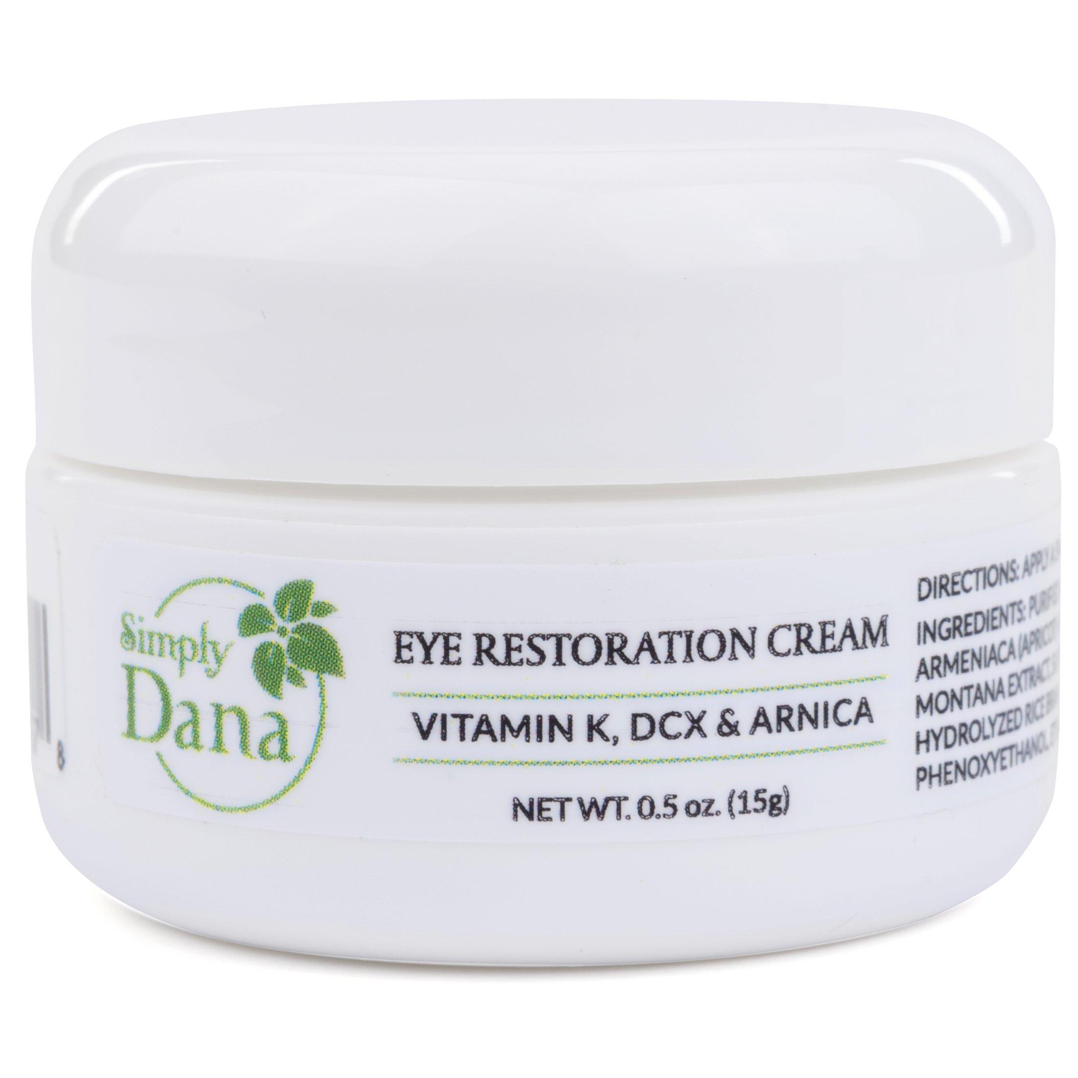 Simply Dana Eye Restoration Cream Vitamin K Dcx Ql Eyebrow 15gr Arnica Remove Dark Circles 05 Oz 15g Beauty