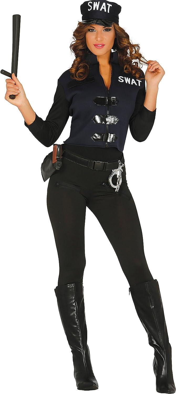 Guirca- Disfraz adulta policía, Talla 38-44 (84357.0): Amazon.es ...