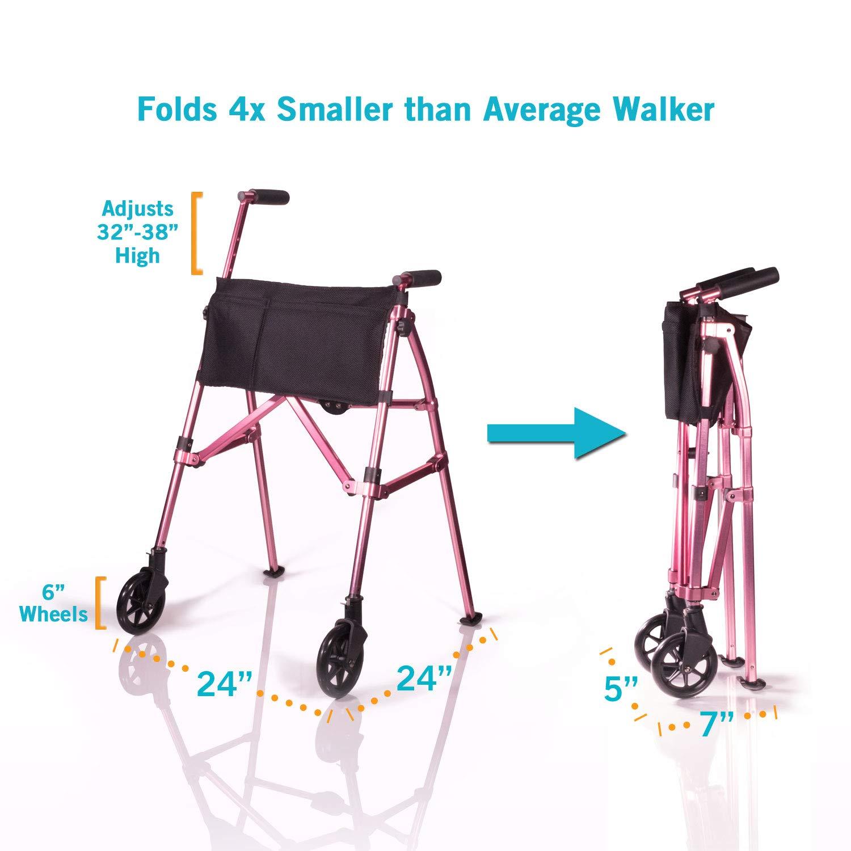 Able2 - Fold n Go - Andador con 2 ruedas antracita: Amazon.es ...