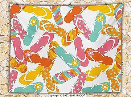 Amazon Summer Fleece Throw Blanket Colorful Bunch Flip Flops Stunning Flip Flop Throw Blanket