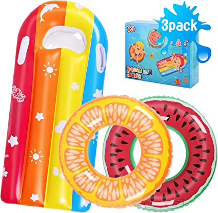Inflatable Floats Swimming Swim Ring Pool Kids Water Sports Beach Toy Floating