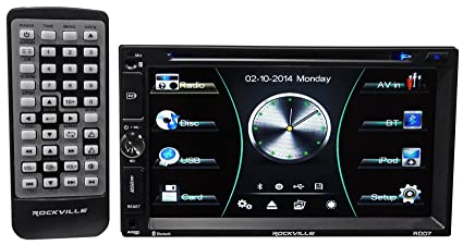 Rockville RDD7 7 Inches Car DVD/iPhone/Pandora/Spotify/Bluetooth/USB Player  Receiver