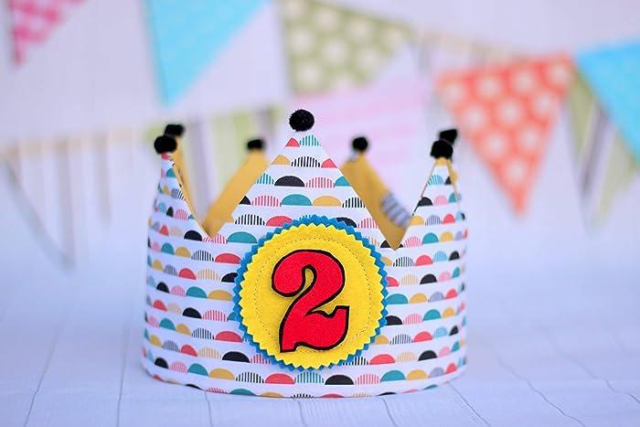 Corona de cumpleanos infantil