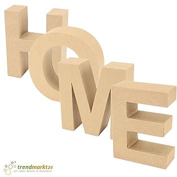 Papp-Buchstaben Set HOME ✓ Papp-Mache Deko-Buchstaben-Set ✓ XXL ...