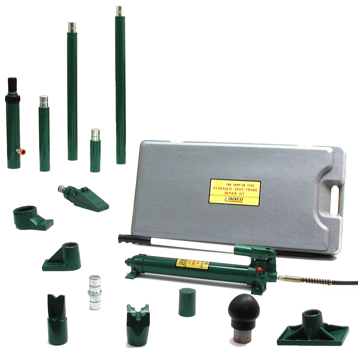 Jackco 10 Ton Snap-on Type Hydraulic Body Frame Repair Kit