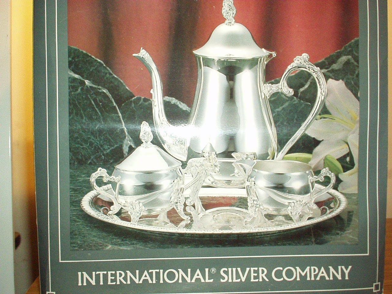 International Silver Gadroon Bordered 4-pc Coffee Set