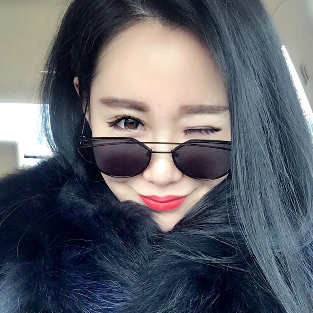 VIASA Womens Sunglasses Fashion Cat Ear Metal Frame Shape Brand Classic Unique Character