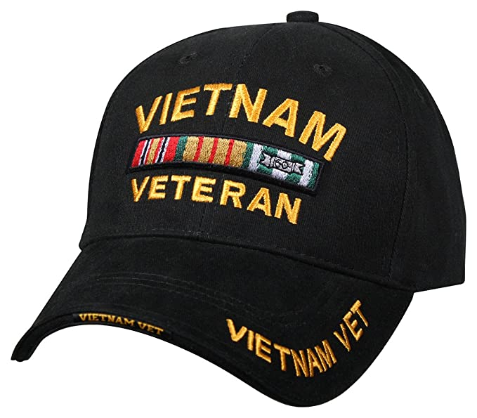 3e6bf824da1 Image Unavailable. Image not available for. Color  Rothco Deluxe Low  Profile Vietnam Veteran Insignia Cap Military Vet