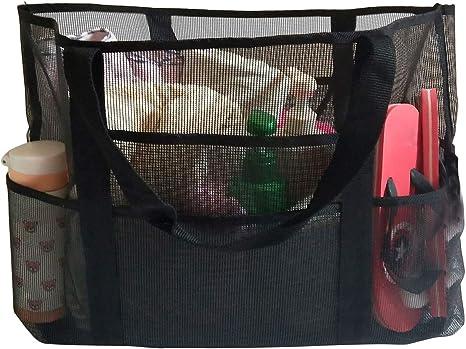 vitutech Mesh Strandtasche Extra Gro/ße Strandtasche Sand Spielzeug Reisetasche Netz-Strandtasche Netztasche Handtaschen Netztasche Perfekt f/ür Familie Urlaub Baden Shopper Reise Picknick