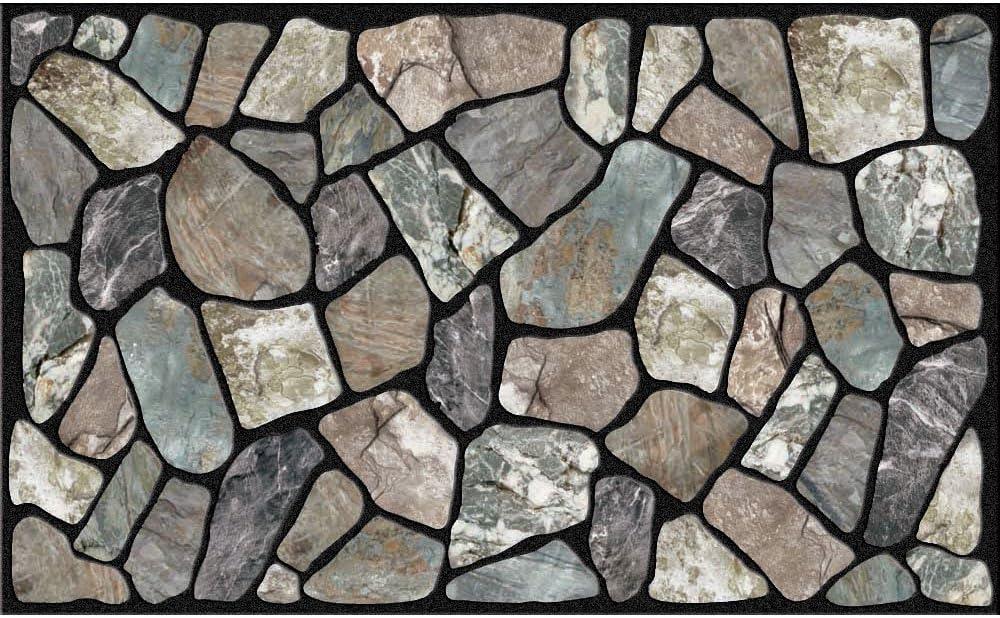 Apache Mills Masterpiece Flagstone Grey Stone Door Mat, 18-Inch by 30-Inch