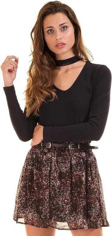 Vila Clothes Vispotties Skirt, Falda para Mujer, AOP:vispotties ...