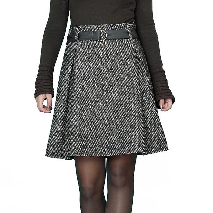 Souvenir-Fashion - Falda - Trapecio - para Mujer Marrón marrón 46 ...