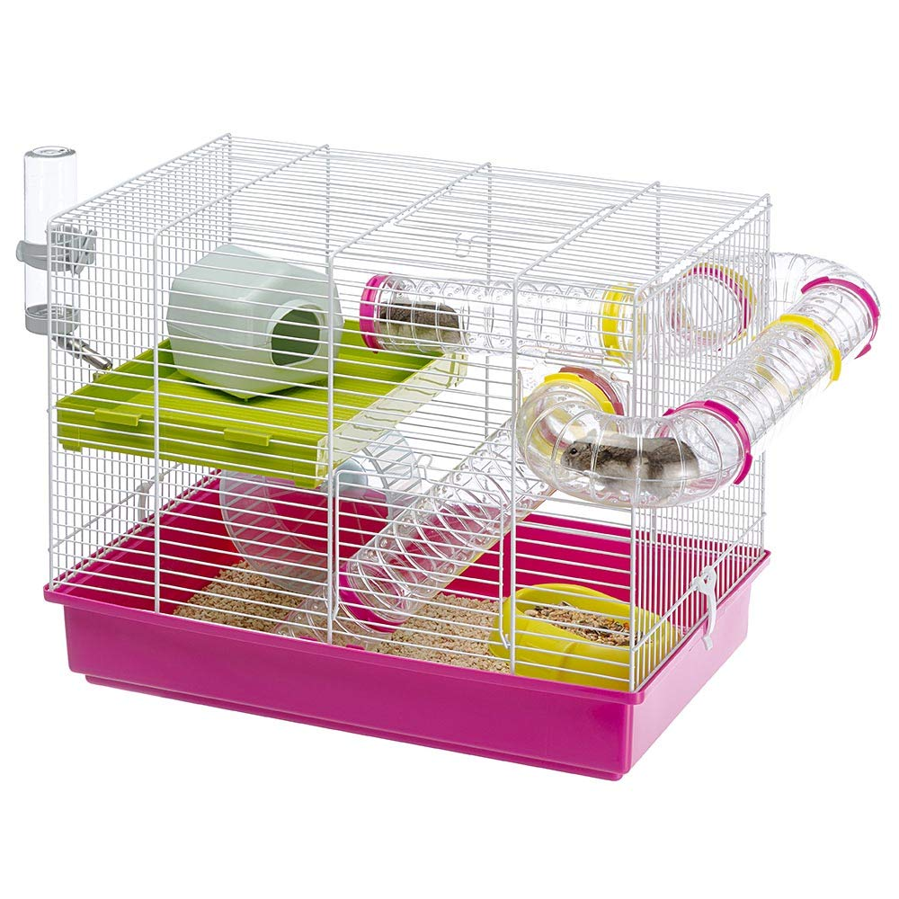 Ferplast Luara Small Hamster Cage | Fun & Interactive Cage Measures Measures 18.11L x 11.61W x 14.8H & Includes All Accessories by Ferplast (Image #4)