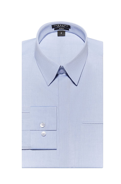 Vardama Moisture Wicking Sweat Proof Shirt Blue Wall St Slim Fit At