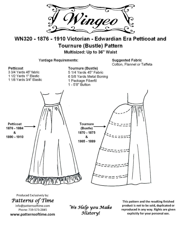 Amazon com: Petticoat & Tournure (Bustle) Pattern: Arts
