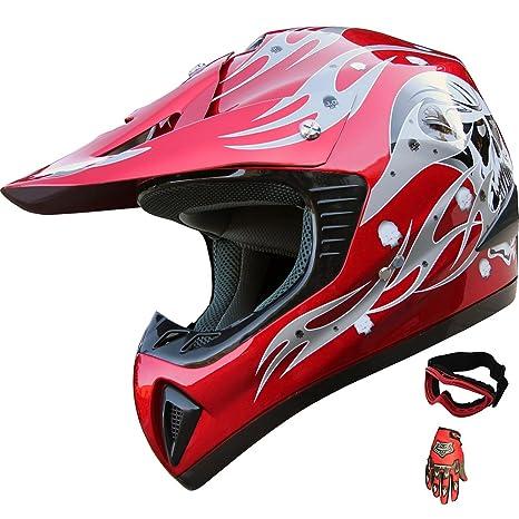 Amazon.com: ATV Motocross Casco para motocicleta de ...