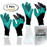 2 Pair Garden Gloves with Fingertips Claws Quick– Great for Digging Weeding Seeding poking -Safe for Rose Pruning –Best Gardening Tool -Best Gift for Gardeners (Single Claw) (2 Pairs)