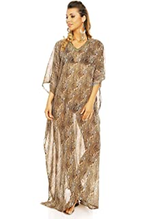ba88c1fb59 Looking Glam Ladies Full Length Maxi Kimono Kaftan Summer Cover up  Oversized Throw Dress