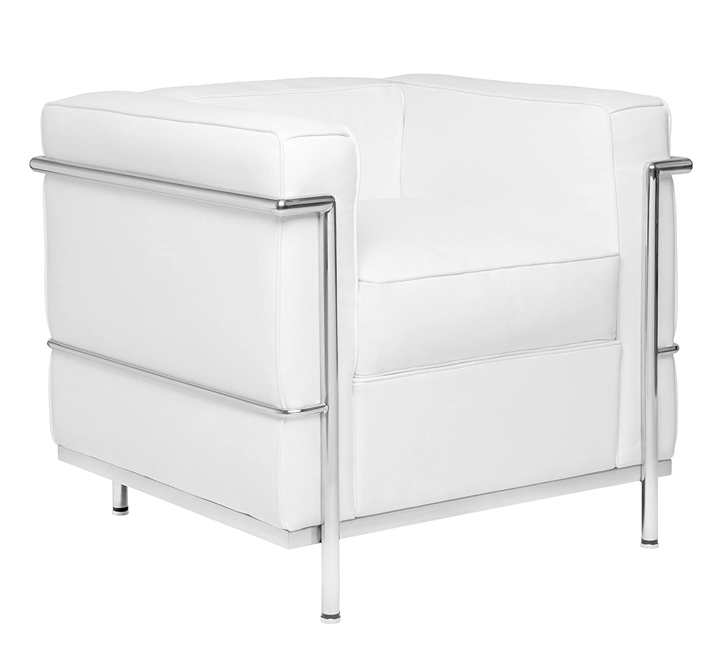 Amazon.com: Carnegie Le Corbusier LC2 Style Armchair (White and ...