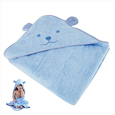 Bebé Toalla con capucha albornoz de baño recién nacido Animal Patrón Cute con capucha toalla ultra