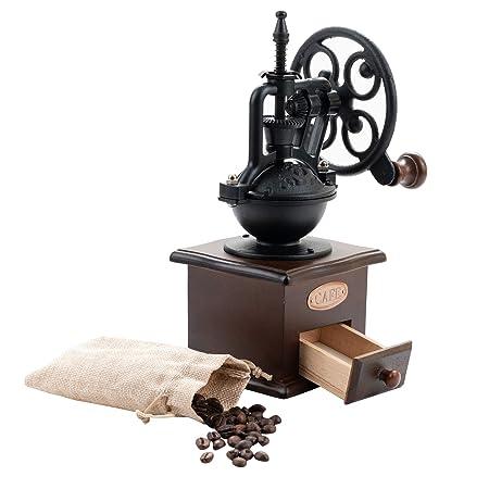 SOPRETY Manuelle Molinillo de café de Madera, portátil, máquina de ...