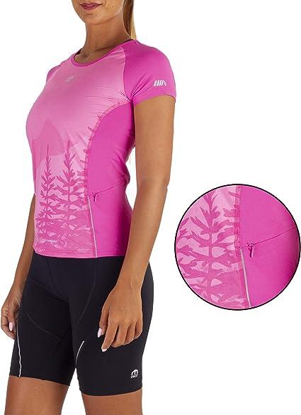 f/ür Damen in Fuchsia Farbe MICO TECHNSCHES T-Shirt SKINTECH Basic runder Halsausschnitt frisch und weich Nahtlose Technologie halber /Ärmel Italienischer Stoff 360 /° Glow Ritmo von Brugnoli/®