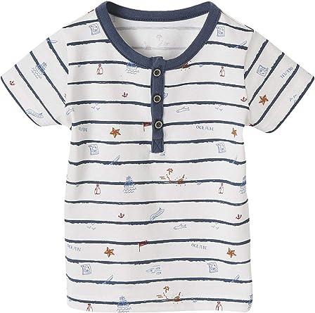 VERTBAUDET Camiseta a Rayas con ilustración océano, para bebé ...