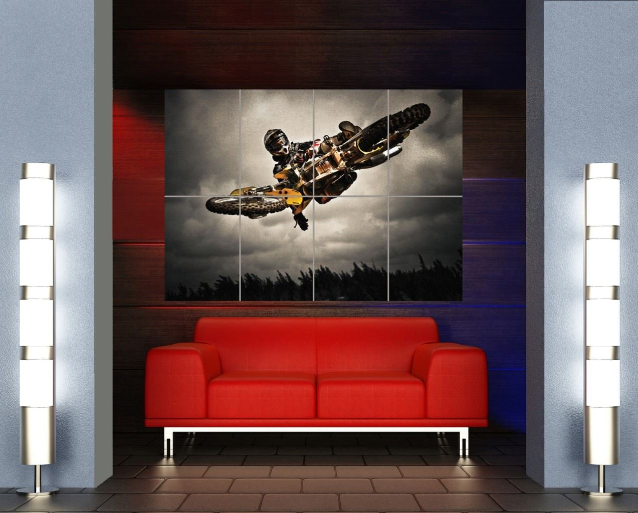 MOTOCROSS STUNT JUMP EXTREME SPORT GIANT ART PRINT POSTER MR127 by Doppelganger33LTD