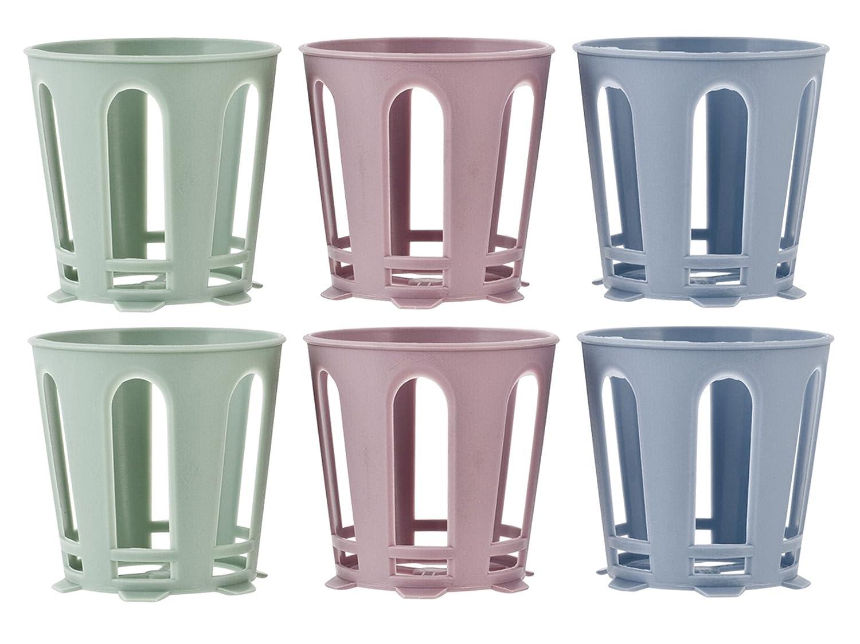 H& H 835700 Set 6 Supporti per Bicchiere, Plastica,, 6 unità Pengo