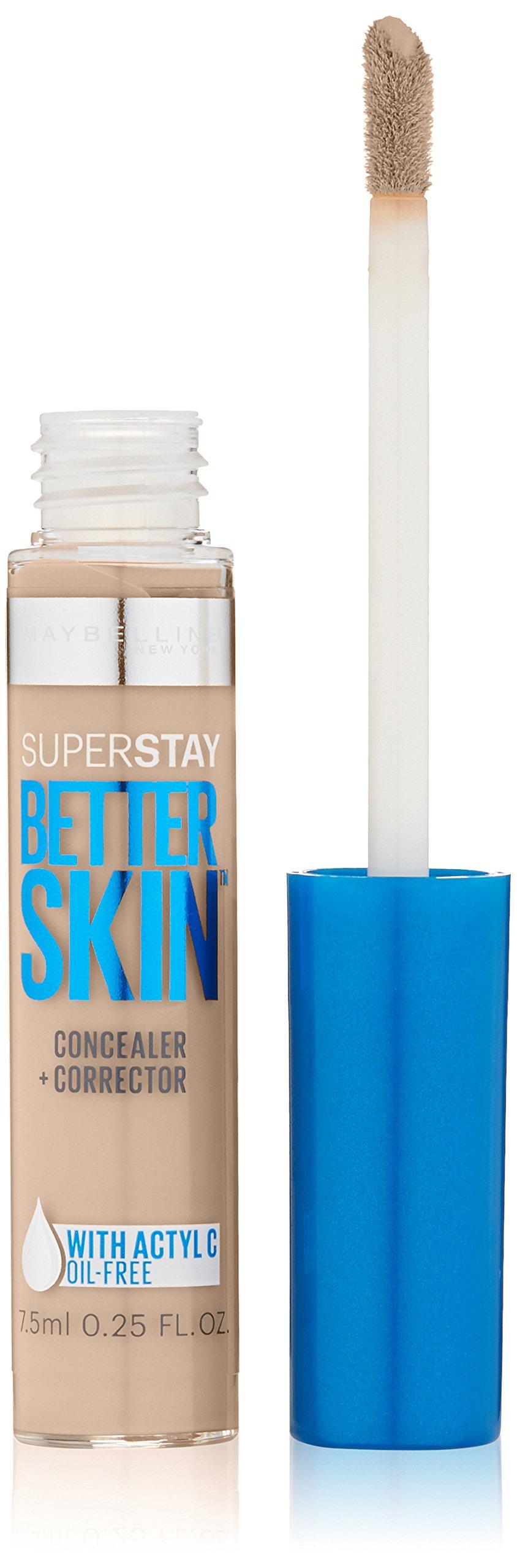 Maybelline Super Stay Better Skin Concealer + Corrector, Ivory, 0.25 fl. oz.