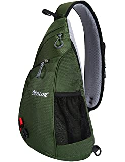 940ecd77c333 ICOLOR Sling Bag Chest Backpack Crossbody Shoulder Packs Travel Sports  Casual Travel Beach Tote Daypacks for
