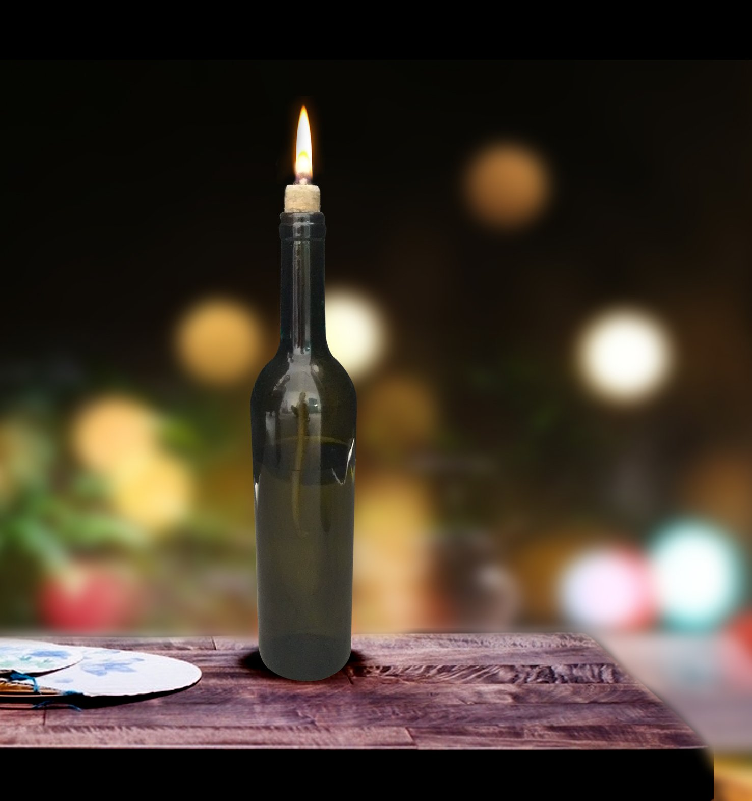Mr.Garden 0.16'' x 24'' - 10Pack Replacement Fiberglass Torch Wick Oil Lamp Wick Create DIY Wicks