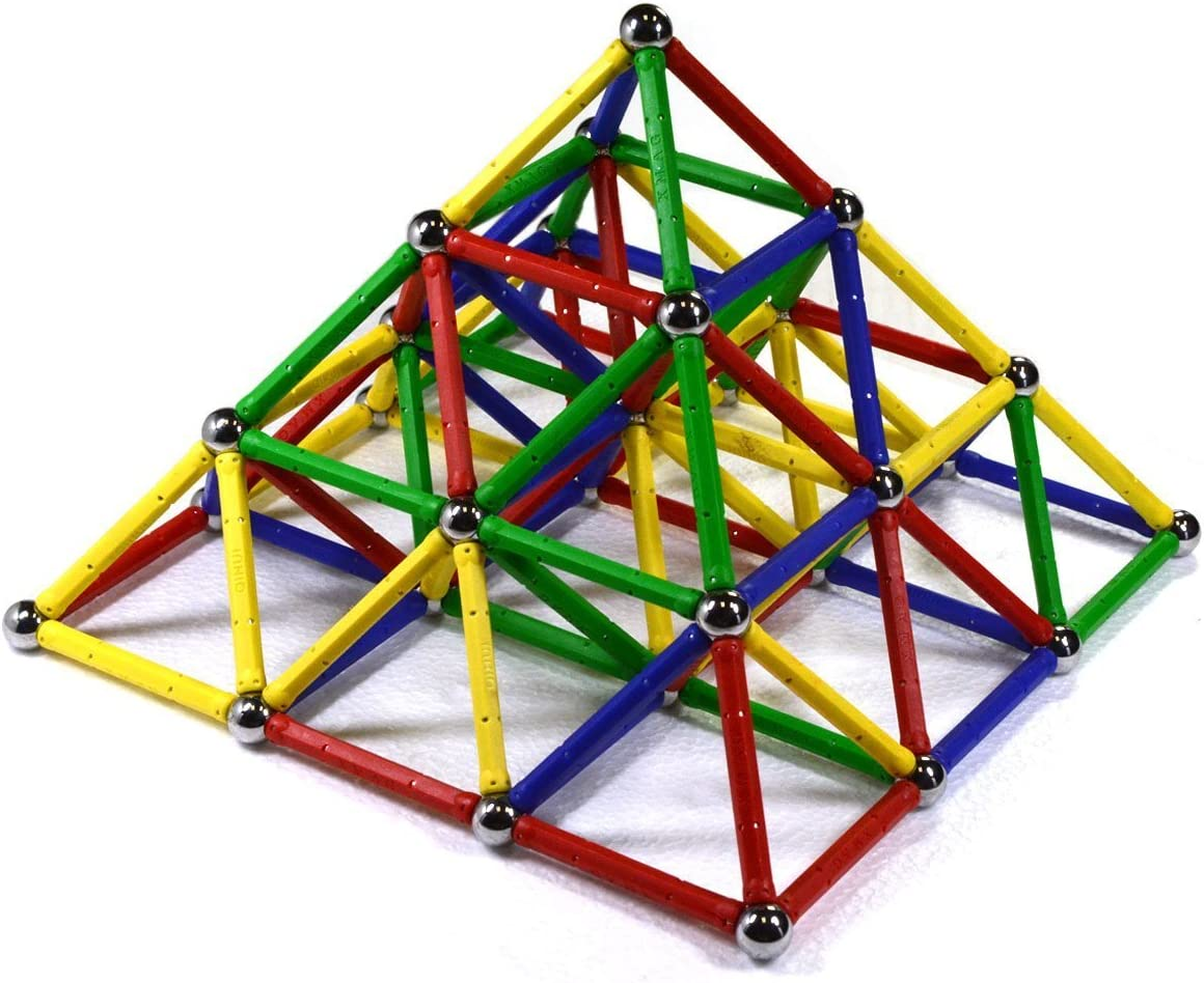 CMS MAGNETICS 156 Pieces Magic Magnetic Building Sets - Magnetic Brain Building Toys for Kids and Adults - Magnet Toy for All Ages