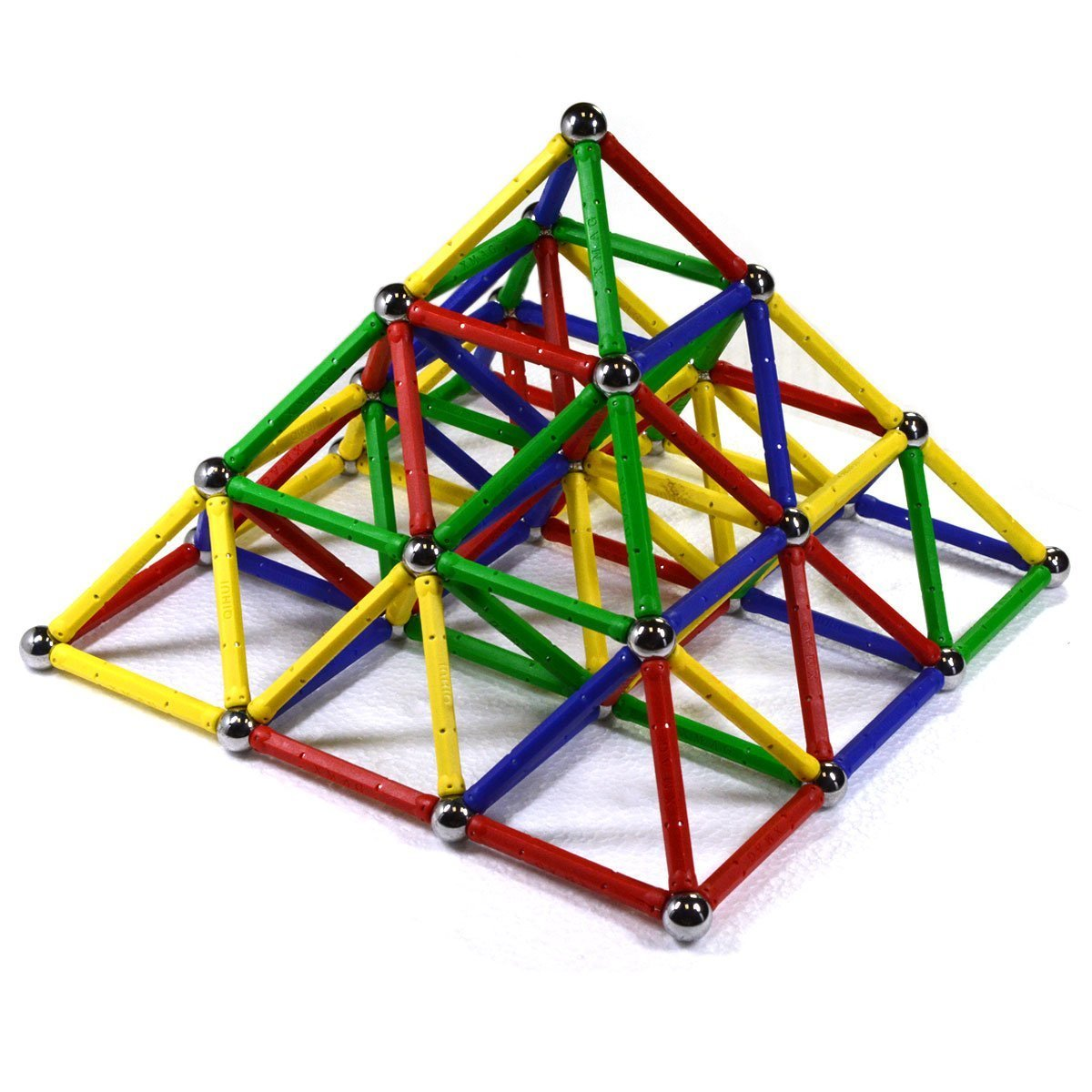 CMS MAGNETICS 156 PC Magic Magnetic Building Sets - Magnetic Brain Building Toys for Kids and Adults - Magnet Toy for All Ages by CMS MAGNETICS