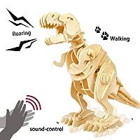 ROBOTIME 3D De Puzzle En Bois Bois Craft Meilleur Anniversaire Puzzle Dinosaure Assembler Des Cadeaux De Noël Pour Les Enfants (Walking T-rex)