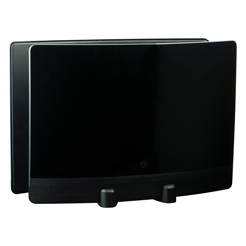 GE UltraPro Optima Black Indoor TV Antenna, Signal Enhancer, Reflector Panel, Hdtv Antenna, Digital, Long Range Antenna, 60 Mile Range, Smart TV Compatible, 4K 1080P VHF UHF, 10ft Coaxial Cable, 34137