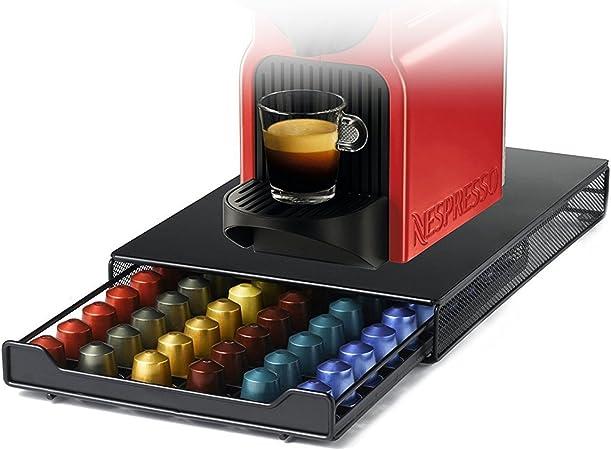 Cajón de Café Cápsulas para Nespresso,HiveNets Soporte de Almacenamiento de Cocina (Capacidad:60 Pcs): Amazon.es: Hogar