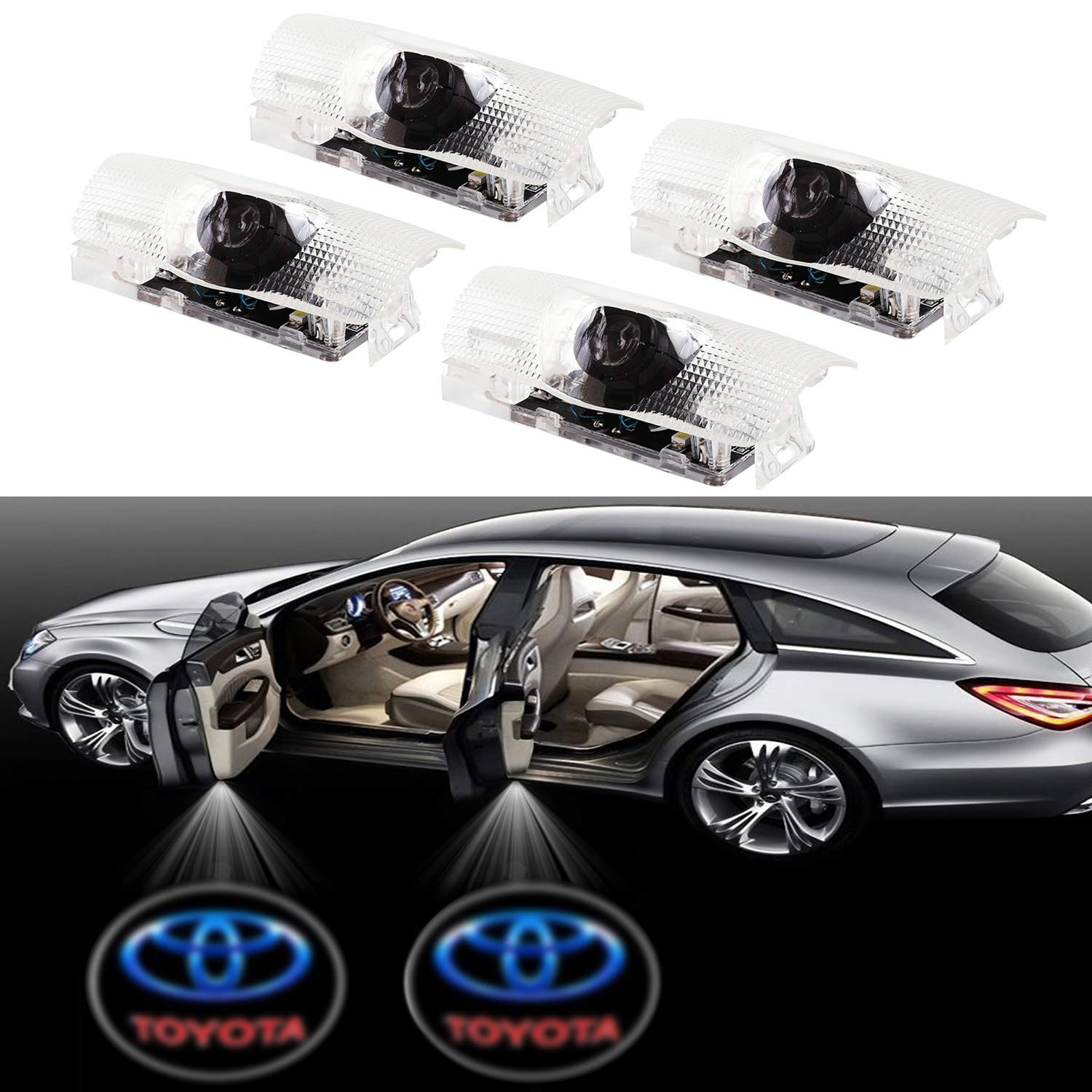 Eogifee Car LED Door Courtesy LED Laser Projector Welcome Lights Ghost Shadow Light for The Replacement of Mercedes-Benz E A B C ML Class w212 w166 w176 Series 2 Pack /
