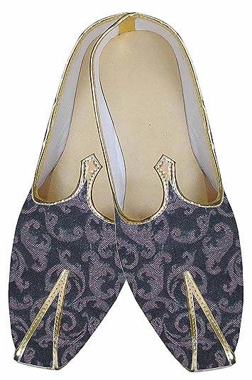 Mens Wine Indian Wedding Shoes Ethnic MJ0173