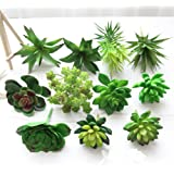 10Pcs-Plastic Lifelike Fake Mini Succulents Artificial Cactus Plant