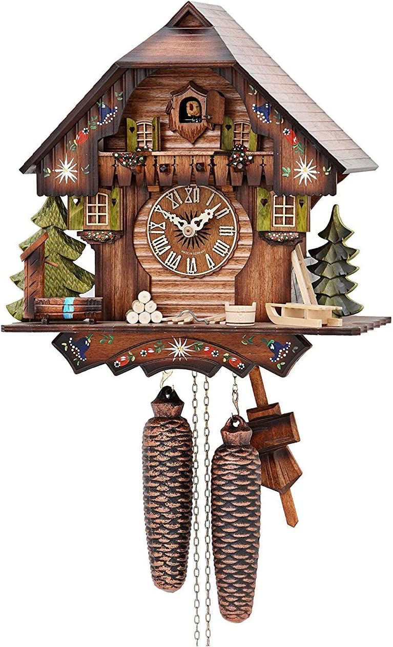 German Black Forest Swiss House swing cuckoo clock with Quartz movement,cuckoo