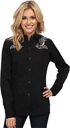 02107a42 Cnt Twill with Baroque Gun Embroidery Old West Collection (3X)  03-050-0040-0775BL at Amazon Women's Clothing store: