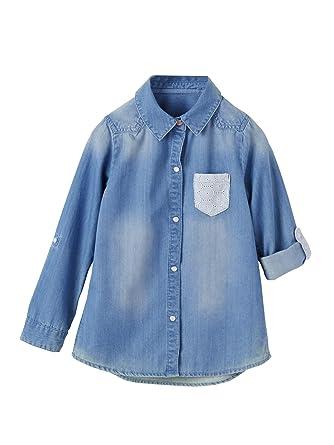 60d41a680 VERTBAUDET Camisa Vaquera Niña Denim Bleached 14A  Amazon.es  Ropa y ...